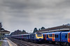 43164 / 43187 passing Brookwood station with 1O41, the 07:41 Penzance - Waterloo, <br /> on 1st April 2013.