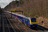 43018 / 43024 running through Deepcut with the 10:00 Penzance - Waterloo, <br /> on 6th April 2015.