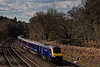 43015 / 43031 approaching Pirbright Junction with 1O42, the 08:44 Penzance - Waterloo, <br /> on 6th April 2015.