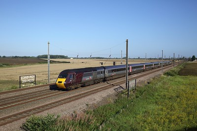 43301 43207 on 1V50 0606 Edinburgh to Plymouth at Overton near Skelton, York on 20 August 2020  XCHST, HST, ECMLYork
