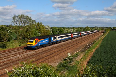 43061+43052 on the 1B23 0634 Leeds to St Pancras at Cossington on the 16th May 2015
