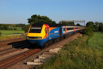 43075 tnt 43050 on the 1D57 1715 St Pancras to Nottingham at Cossington on the 10th June 2015