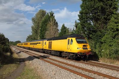 43013 leading 43014 on 1Q15 Derby RTC to Landore at Bullo Pill on 13 September 2012  NMTHST, LydneyLine, NetworkRail