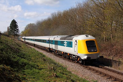 41001 tnt 56098+56006 on the 1E46 1042 Wansford to Peterborough departing Orton Mere on the 10th April 2016