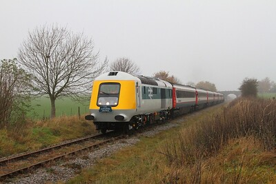 41001 tnt 43054 on the 1320 Ruddington to Loughborough North shortly after departing Ruddington on the 15th November 2014 3
