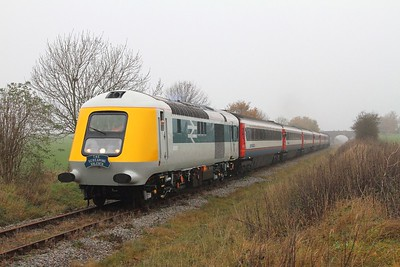 41001 tnt 43054 on the 1320 Ruddington to Loughborough North shortly after departing Ruddington on the 15th November 2014