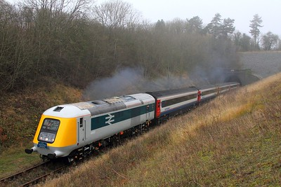 41001 tnt 43054 on the 1320 Ruddington to Loughborough North at Stanford on the 15th November 2014