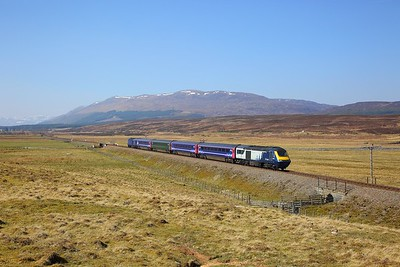 43149+43151 on the 1H07 0833 Edinburgh to Inverness at Cuaich on the 22nd April 2019