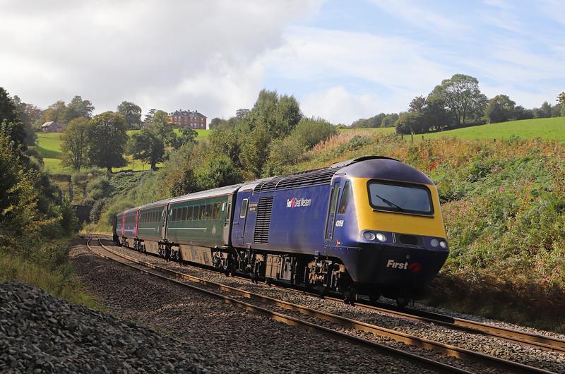 43156/43172, 12.53 P{aignton-Cardiff Central, Marlands, near Wellington, 24-9-19.