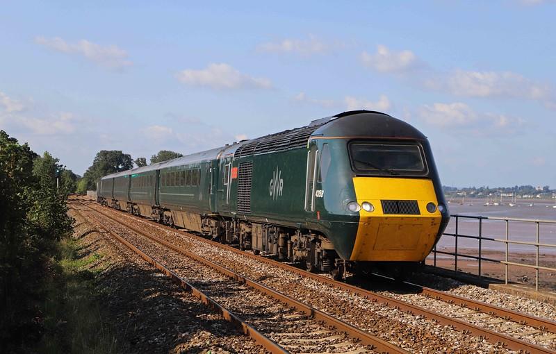 43158/43094, 16.28 Exeter St David's-Penzance, Powderham, near Starcross, 26-8-21.