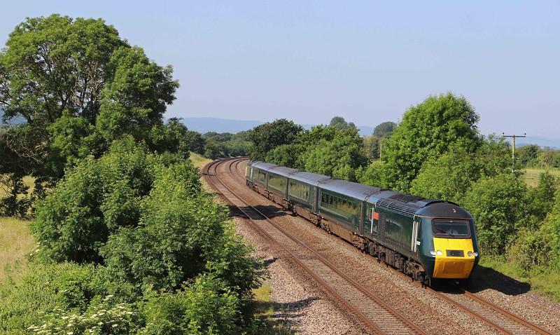 43093/43092, 05.40 Penzance-Cardiff Central, Cogload Junction, near Taunton, 23-6-21.