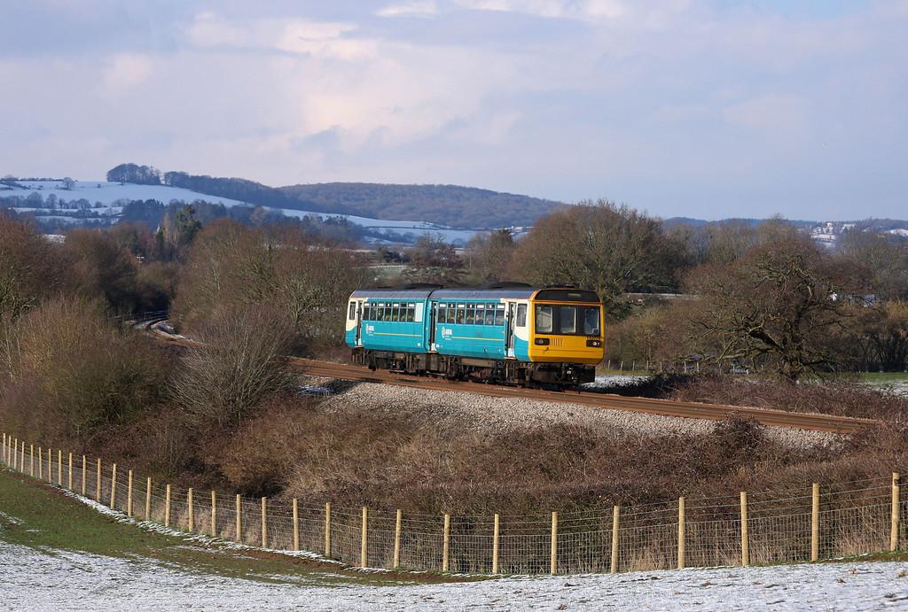 142076, 14.45 Cheltenham Spa-Maesteg, Box Farm, Awre, Gloucestershire,19-2-10.