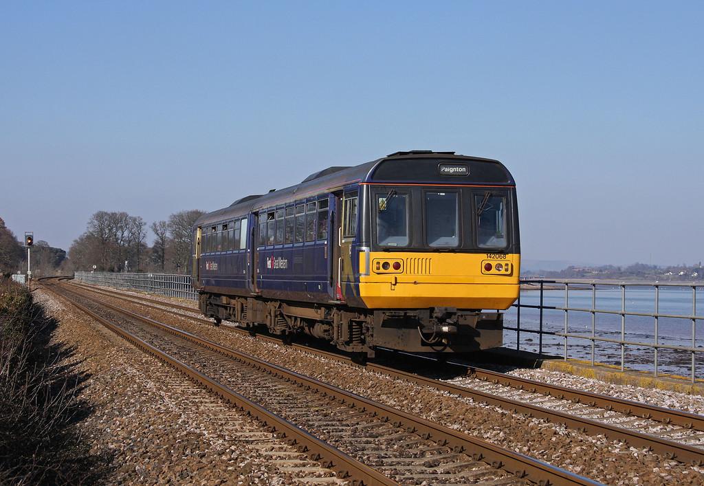 142068, 13.23 Exmouth-Paignton, Powderham, near Starcross, 5-3-10.