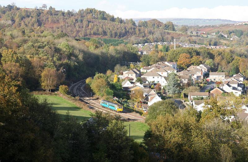 142, 14.25 Bargoed-Penarth, Ystrad Mynach, 27-10-09.