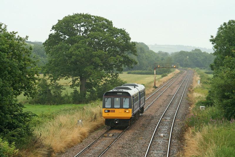 142001, 13.53 Exmouth-Barnstaple, Uton, near Crediton, 16-7-09.