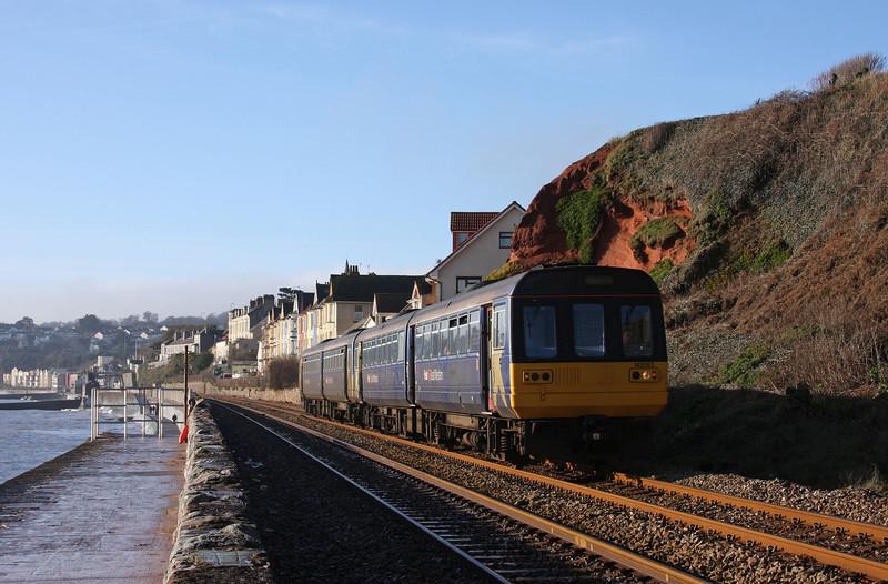 142063/142030, 10.20 Paignton-Exmouth, Dawlish, 18-1-10.