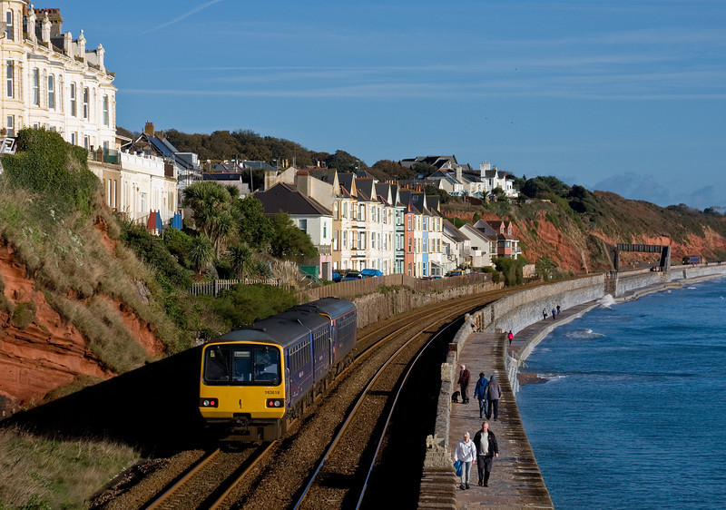 153329/143618, 09.49 Paignton-Exmouth, Dawlish, 10-11-13.