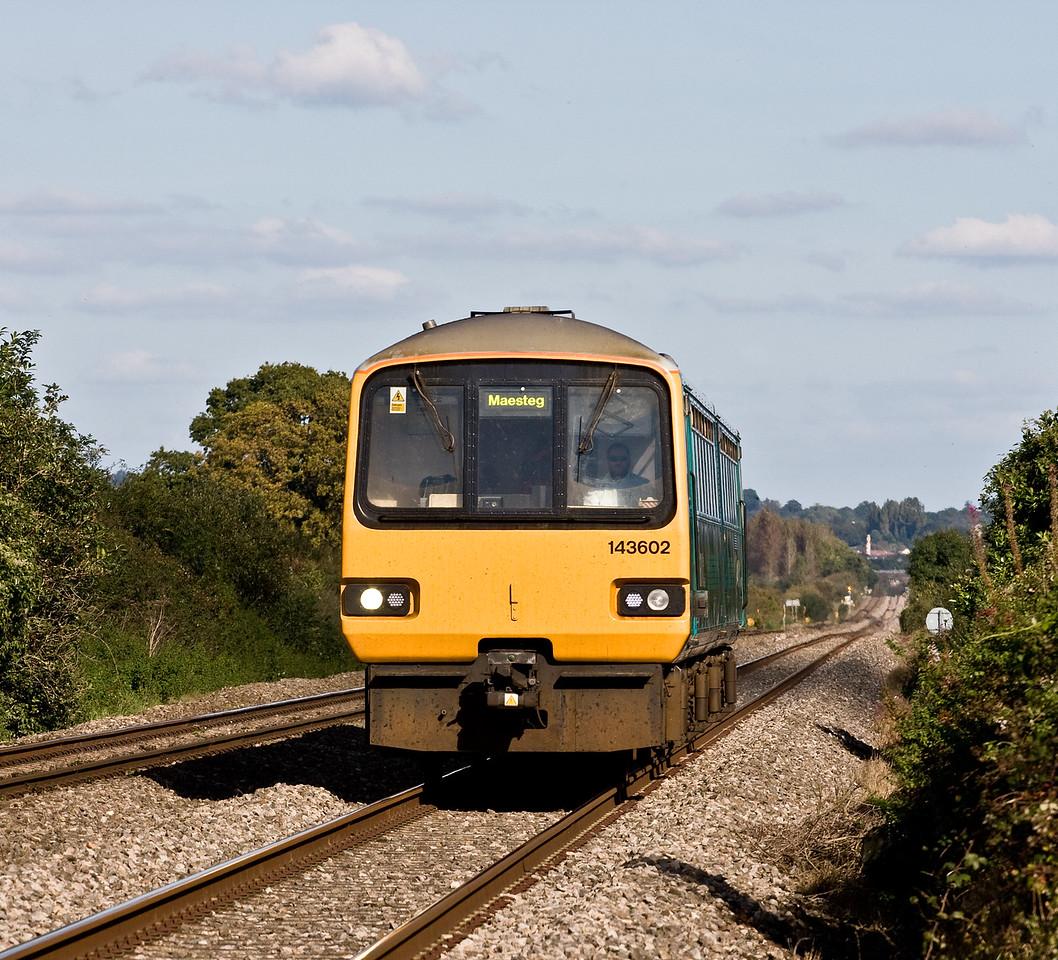 143602, 13.52 Cheltenham Spa-Maesteg, Woolaston, near Lydney, 3-10-16.
