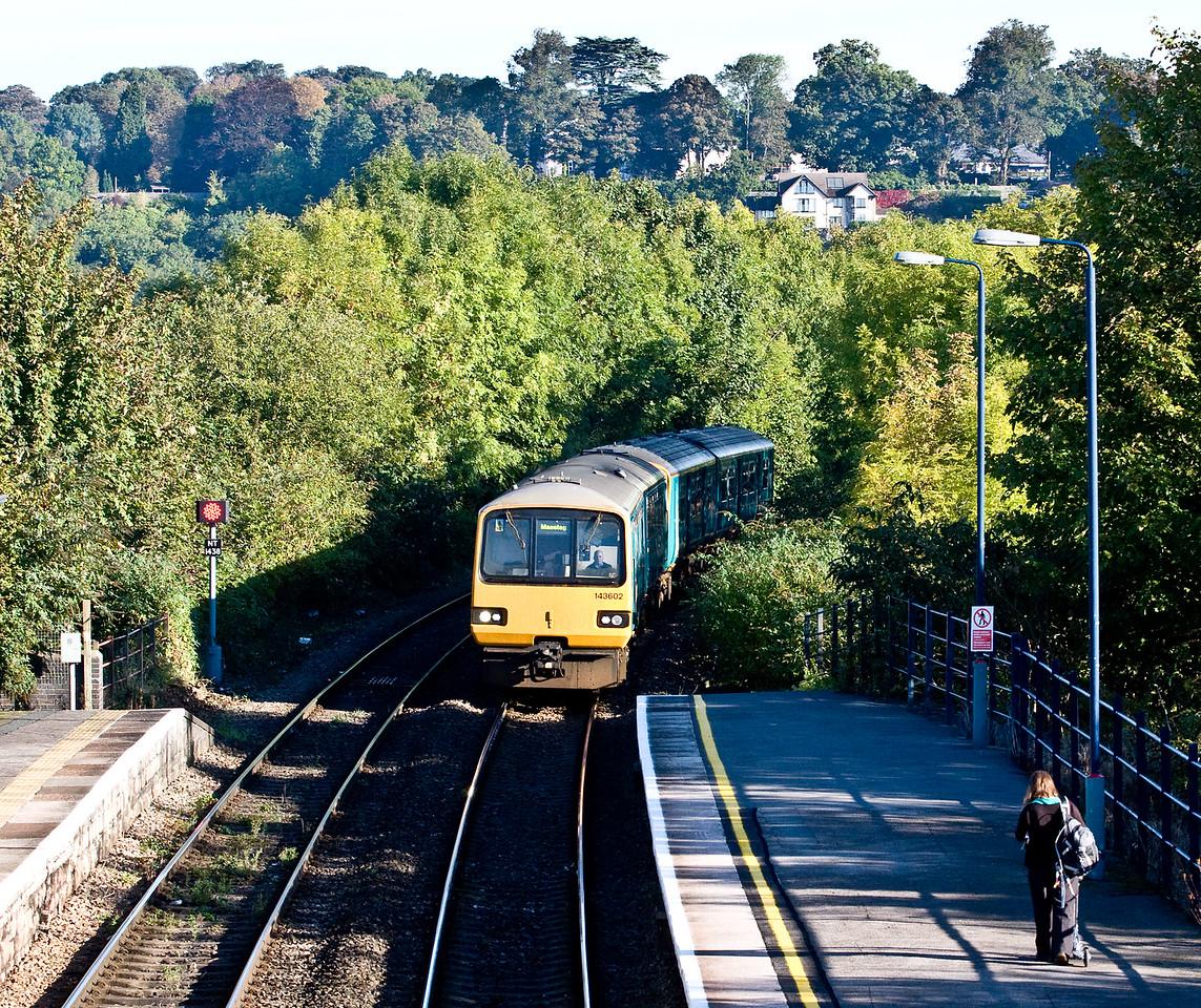 143602/150, 08.46 Cheltenham Spa-Maesteg, Chepstow, 3-10-16.