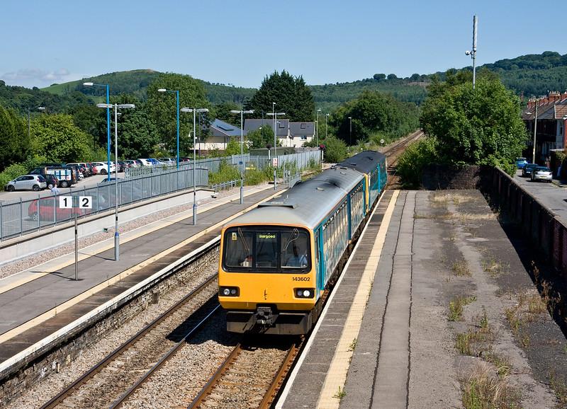 143602/143623, 14.47 Penarth-Bargoed, Caerphilly, 18-7-16.
