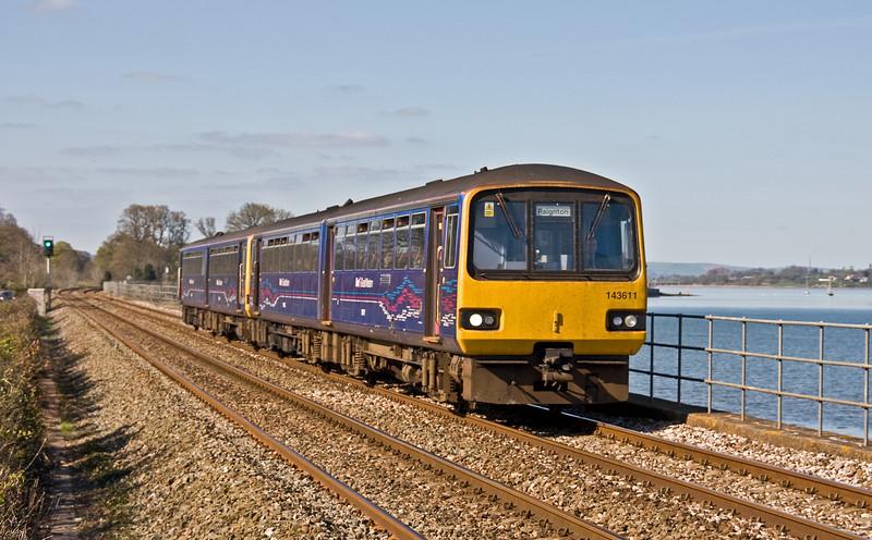143611/143603, 15.24 Exmouth-Paignton, Powderham, near Exeter, 6-4-17.