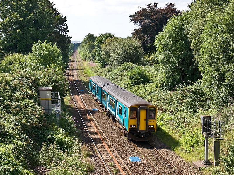 150236, 10.47 Penarth-Bargoed, Llanishen, Cardiff, 24-7-17.
