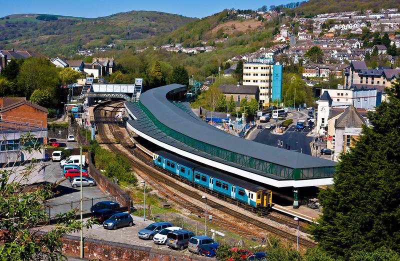150242, 11.47 Treherbert-Cardiff Central, Pontypridd, 22-4-15.