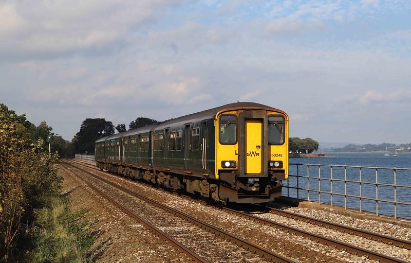 150248/150247, 12.57 Exmouth-Paignton, Powderham, near Starcross, 14-10-21.