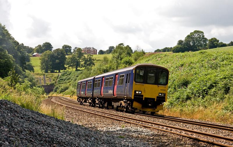 150122, 12.48 Paignton-Cardiff Central, Marlands, near Wellington, 22-7-16.