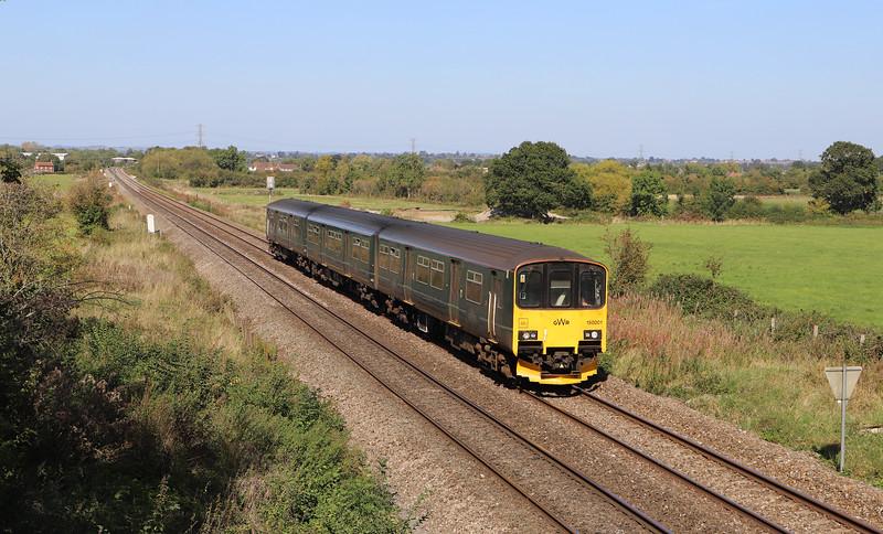 150001, 10.48 Great-Malvern-Brighton, cancelled at Westbury, train crew issue, Heywood, near Westbury, 18-9-19.