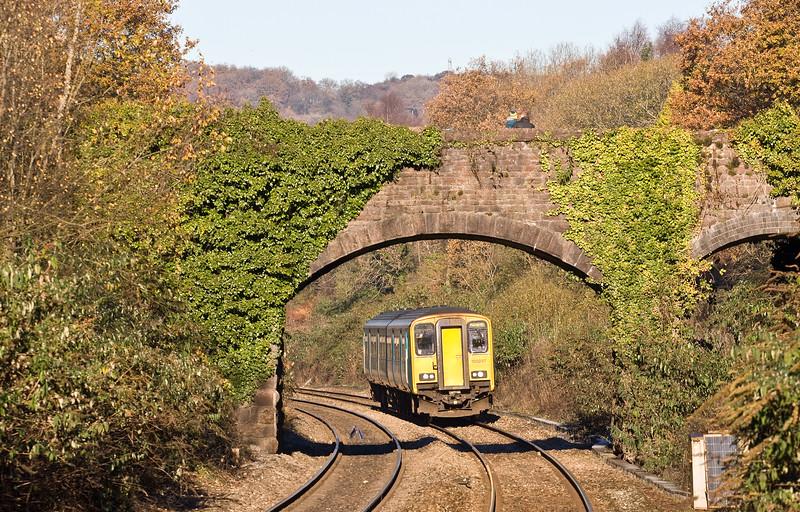 150237, 10.27 Rhymney-Penarth, Llanishen, Cardiff, 30-11-16.
