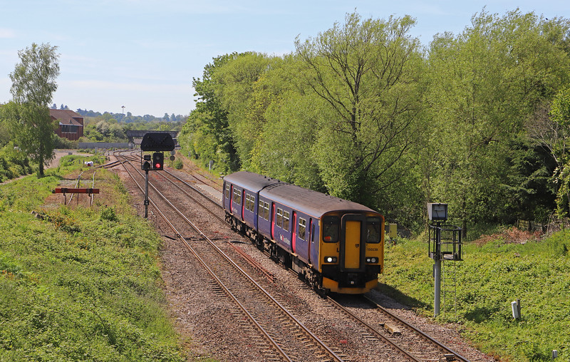 150238, 10.23 Portsmouth Harbour-Cardiff Central, Hawkeridge Junction, Westbury, 14-5-19.