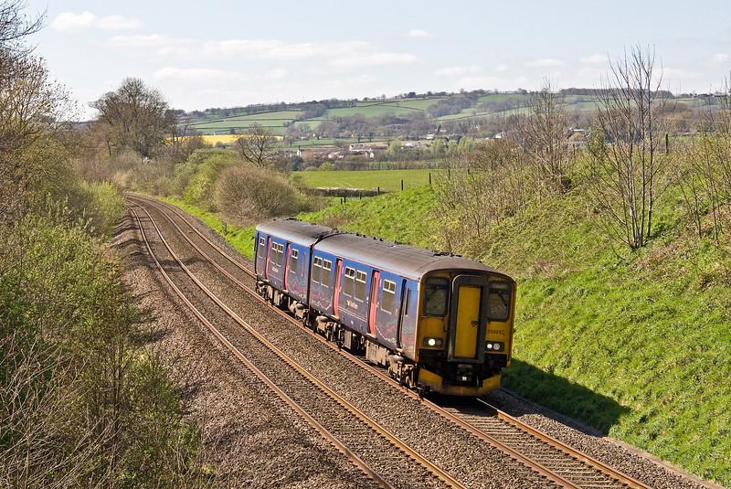 150243, 12.48 Paignton-Cardiff Central, Whiteball, 6-4-17.