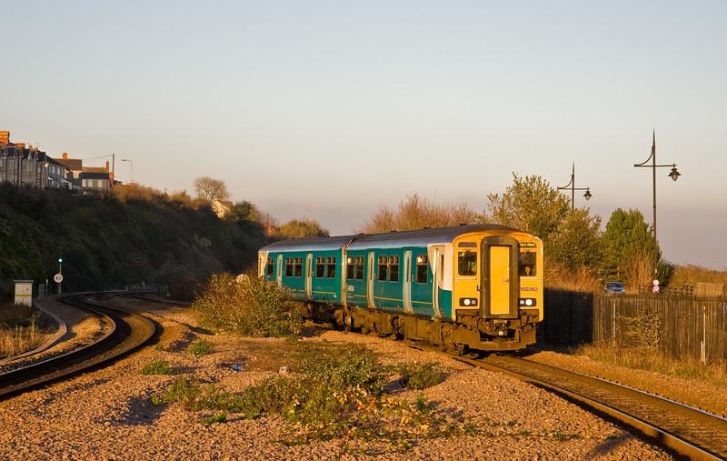 150262, 14.08 Merthyr Tydfil-Barry Island, Barry Docks Station, 18-11-14.
