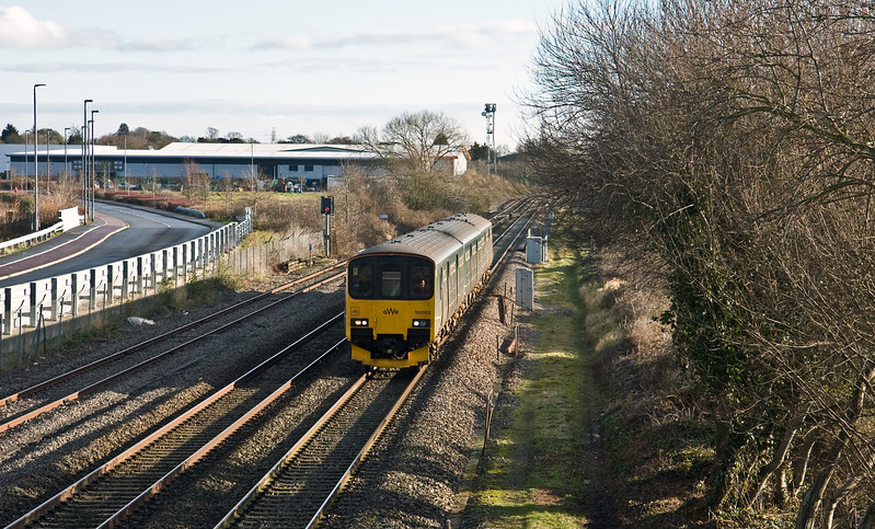 150002, 08.00 Cardiff Central-Paignton, Norton Fitzwarren, near Taunton, 26-1-18.
