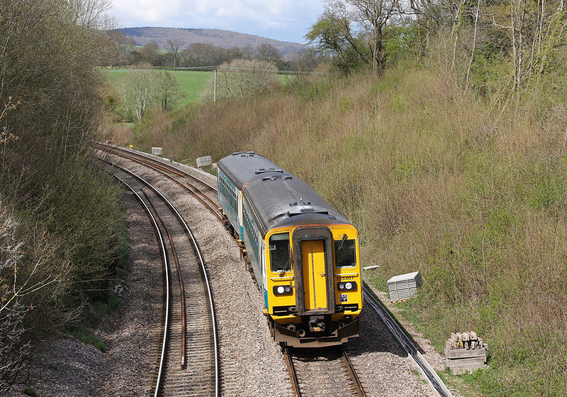 153367/153, 13.45 Cheltenham Spa-Maesteg, Awre, Gloucestershire, 12-4-12.