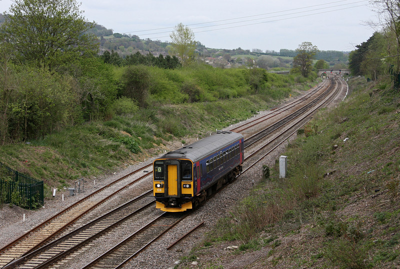 153370, 12.26 Southampton Central-Bristol Parkway, Bathampton, near Bath, 27-4-10.