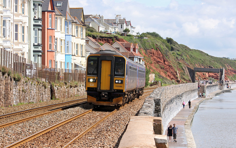 153380/153, 10.21 Exmouth-Paignton, Dawlish, 8-7-12.