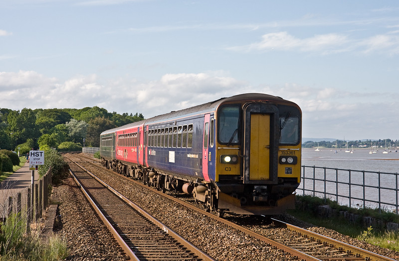 153361/153325/153382, 16.53 Exmouth-Paignton, Starcross, 2-6-18, 13 late.