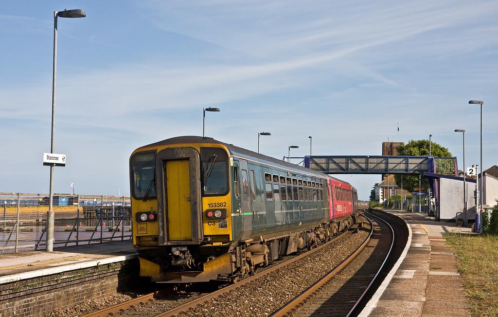 153361/153325/153382, 16.53 Exmouth-Paignton, Starcross, 2-6-18, 13 late.