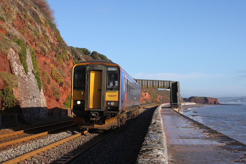 153377, 10.23 Exmouth-Paignton, Dawlish, 18-1-10.