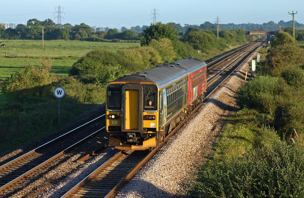 153302/153370, 17.56 Paignton-Exmouth, Exminster, 6-9-05.