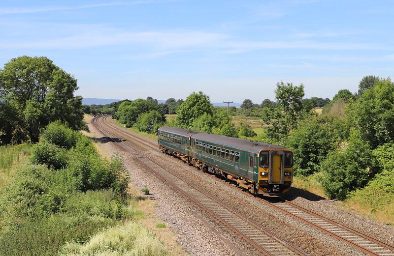 153372/153, 0925 Exeter St James' Park-Bristol Parkway, Cogload, 25-6-18.