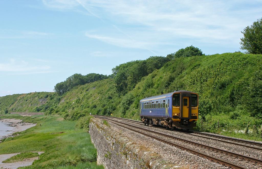 153361, Cardiff Central-Gloucester, Gatcombe, near Lydney, 22-6-05.