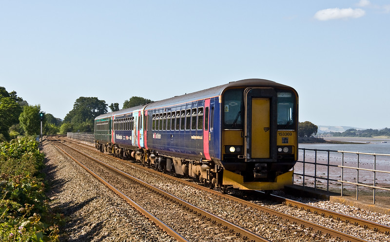 153369/153/153, 16.48 Exeter Central-Paignton, Powderham, near Exeter, 17-6-17 (10 late).