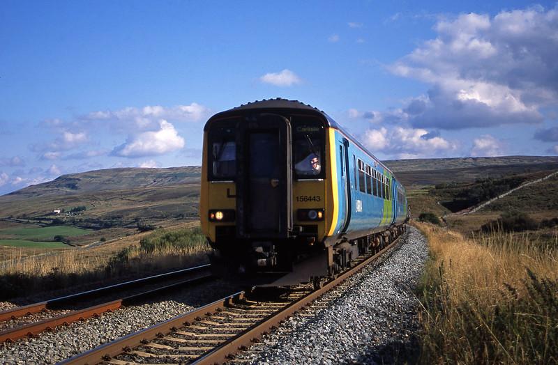 156443, 14.49 Leeds-Carlisle, Grisedale Crossing, near Garsdale, 9-9-03.