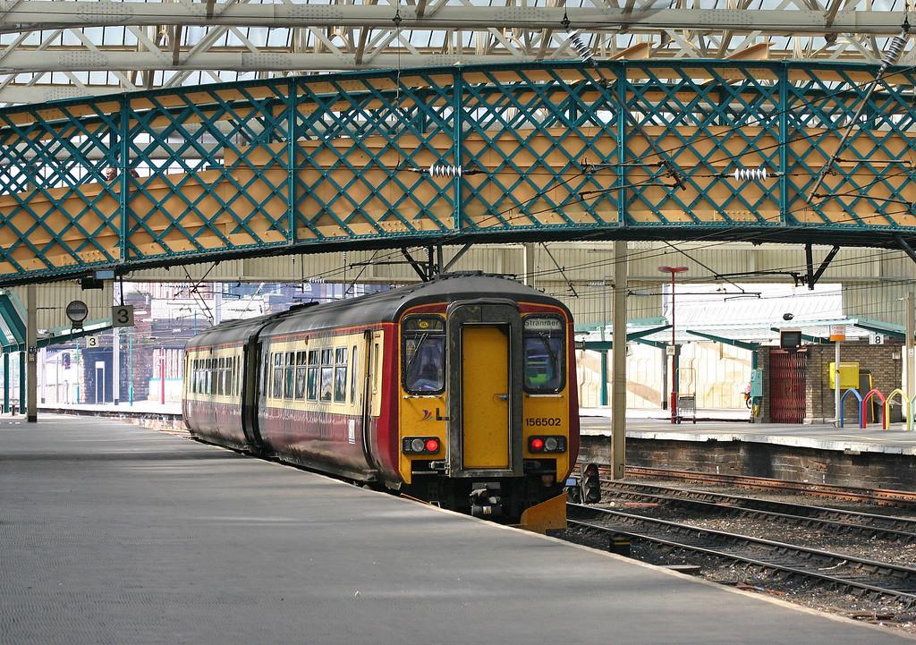 156502, 14.23 Carlisle-Stranraer, Carlisle Station, 25-5-04.
