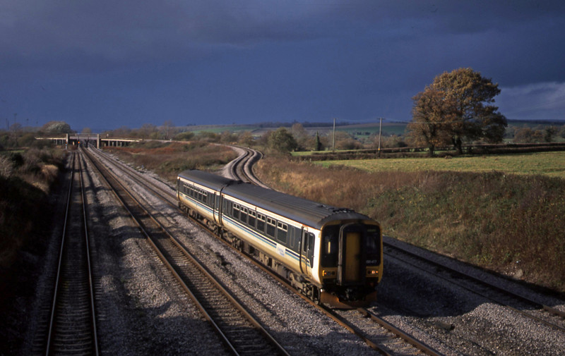 156417, Cardiff Central-Lincoln, Llandevenny, near Llanwern, 12-11-02.