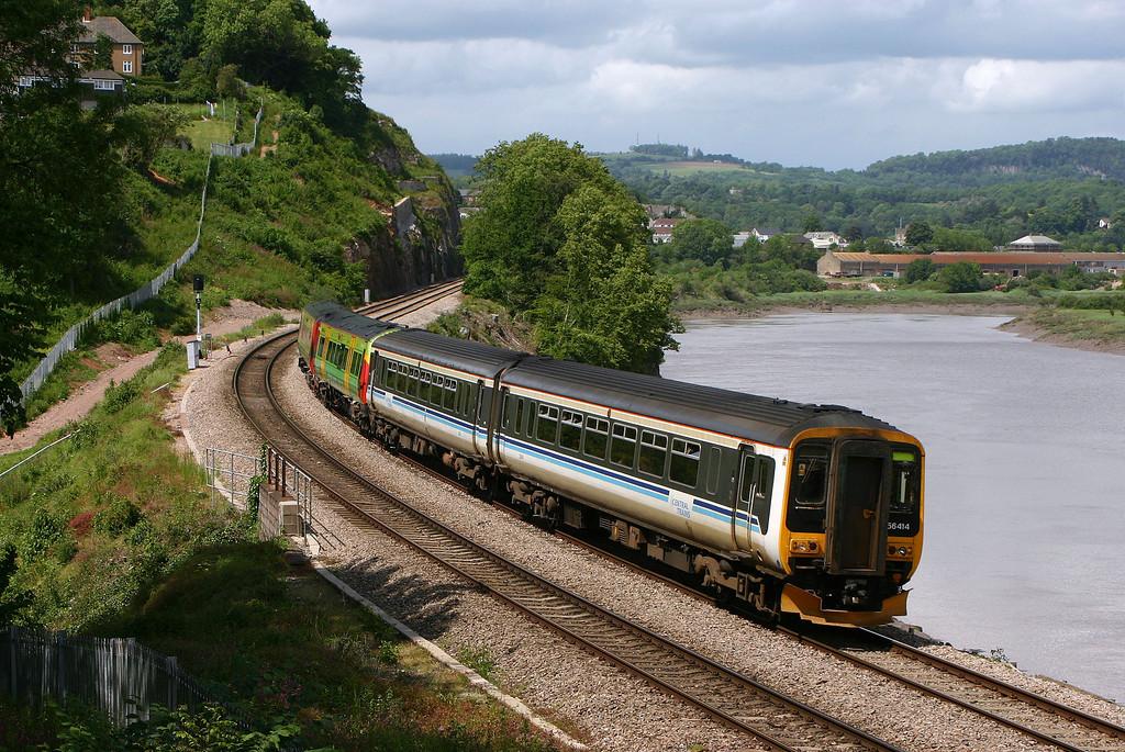 156414/170515, Nottingham-Cardiff Central, Bulwark, Chepstow, 29-5-04.