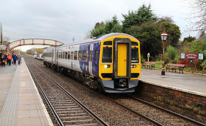 158871, 13.40 Carlisle-Leeds, Appleby-in-Westmorland, 12-11-19.